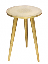 Moroccan Brass Side Table Hammered 60 cm x 40 cm